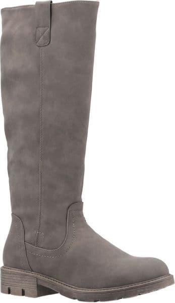 Divaz Quinn Ladies Long Boots Olive